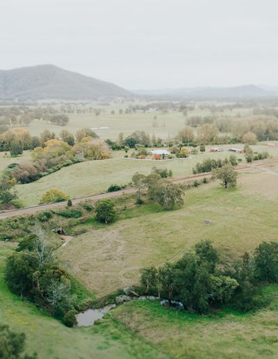 drone shot of a rural area