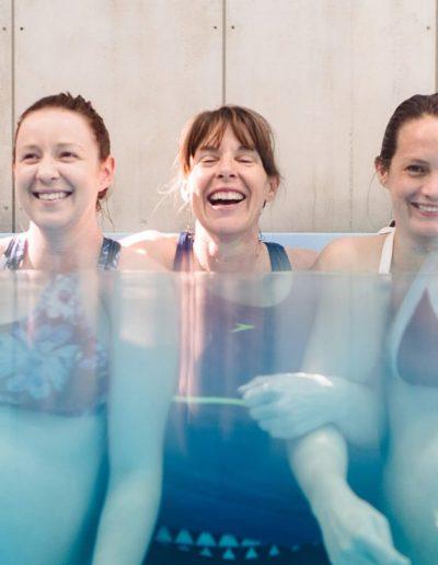women in the pool