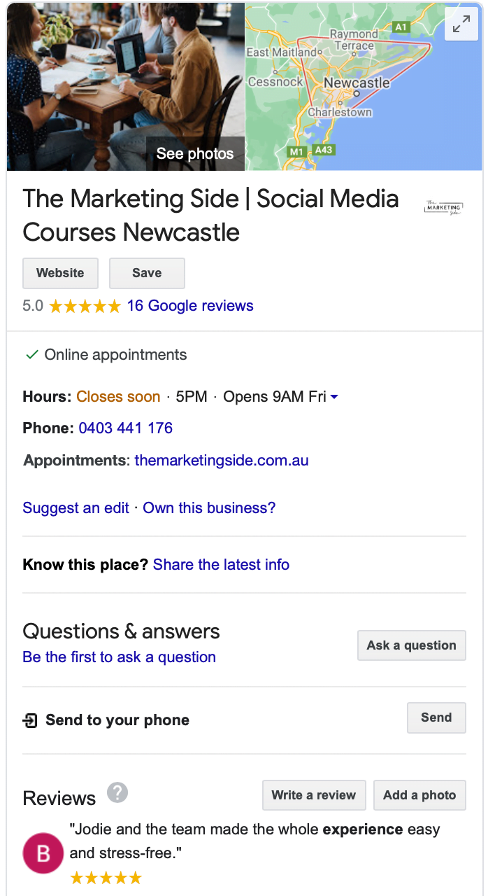Google My Business The Marketing Side